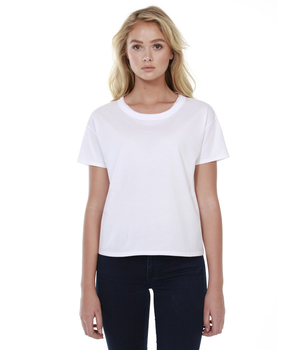 Womens Raw Neck Boxy Tee