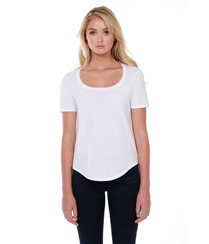 Womens Cotton U-Neck Tee