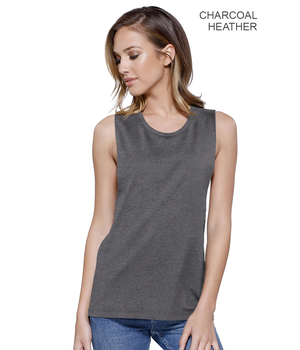 Womens Cotton Muscle Crop Tee