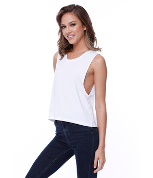 Womens Cotton Muscle Tee