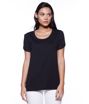 Womens CVC Twist Sleeve Top