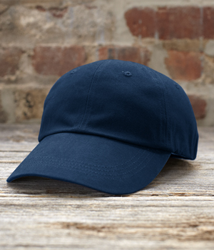 6 Panel Brushed Twill Cap