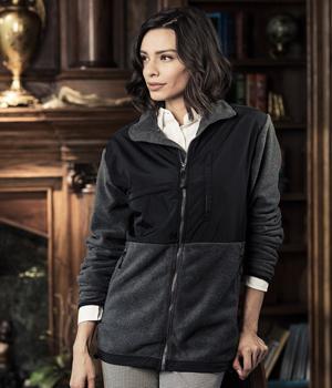 Nylon Fleece Full Zip Jacket