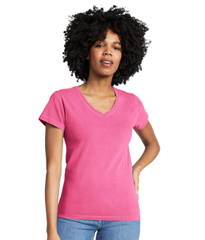Ladies Ring Spun V-Neck Tee