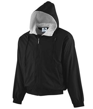 Hooded Taffeta Fleece Jacket
