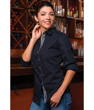 Ladies Peached Poplin Shirt