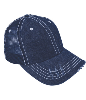 Washed Denim Trucker Cap