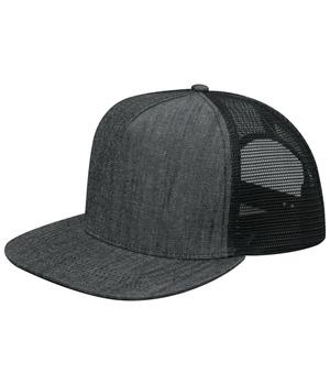Flat Bill Snapback Trucker Cap
