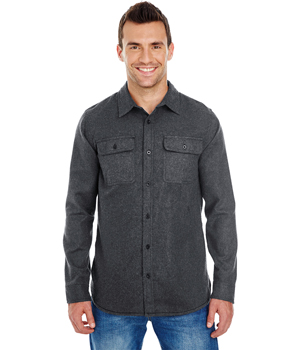 Mens Long Sleeve Solid Flannel