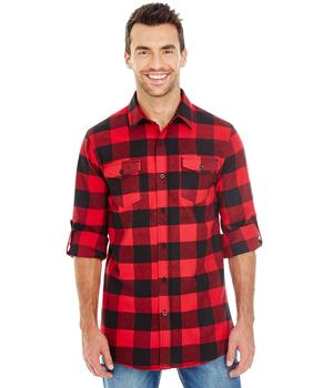 Mens Long Sleeve Plaid Flannel