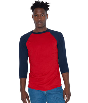 Poly-Cotton 3/4 Sleeve Raglan