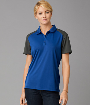 Womens Color Block Polo