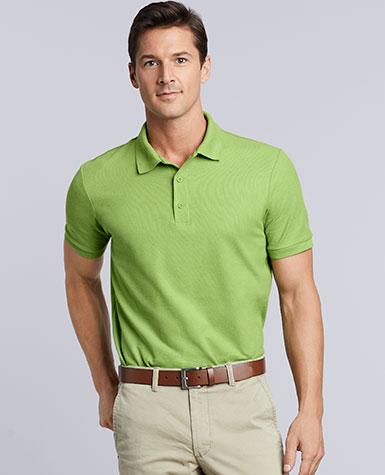 0535b7c7 82800 Gildan Premium Cotton® Adult Double Piqué Sportshirt * 6.6 ounce *  100% combed ring spun cotton pre-shrunk double piqué knit * Dark Heather  50C/50P ...