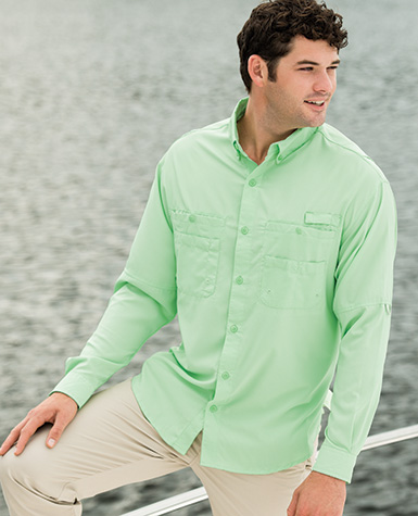 Zp2299 hilton long sleeve baja fishing shirt 100 for Fishing sponsor shirts